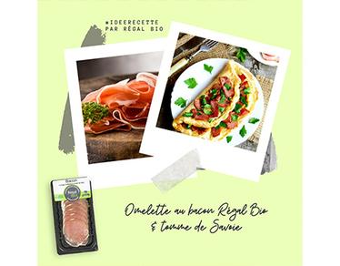 Recette : omelette au bacon et tomme de Savoie
