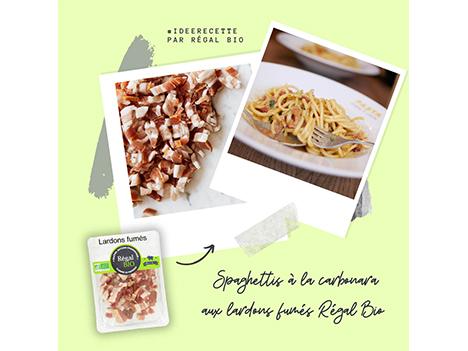 Recette : spaghetti à la carbonara aux lardons fumés